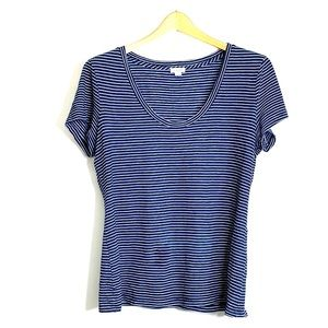 SPLENDID • Striped Navy Scoop Beck T-Shirt Cotton